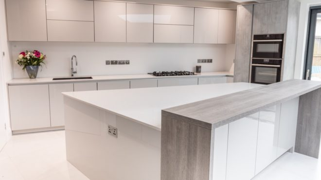 High Gloss Kitchen Units Eternal, How To Repair Chipped Gloss Kitchen Cabinets